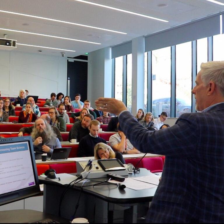 Professor Robert Bristow presenting at a Town Hall