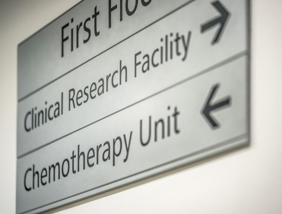 Clinical Research Facility sign