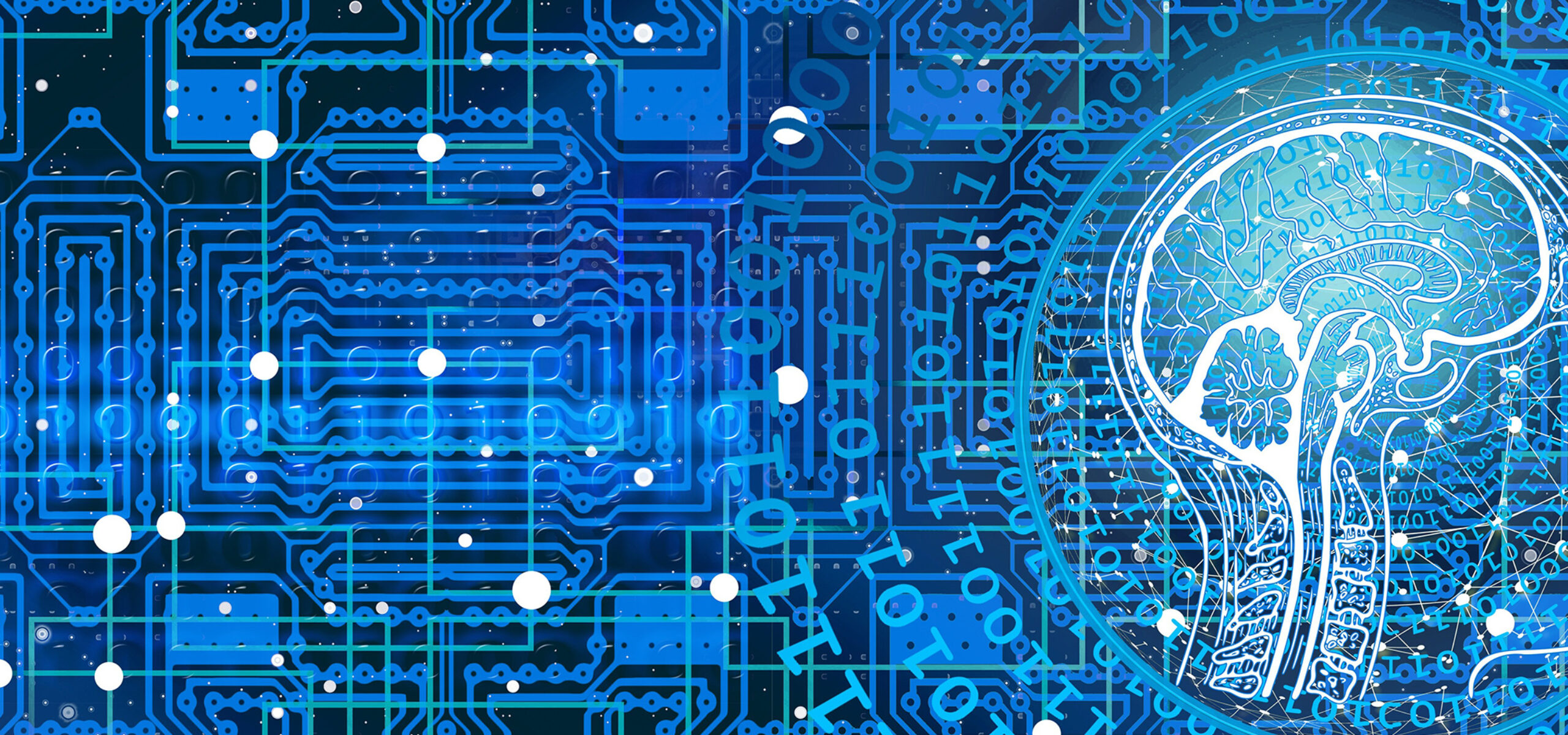 Illustration of big data, coding and machine learning