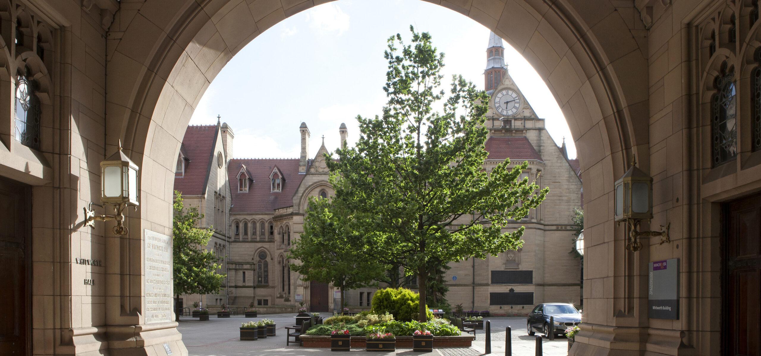 Whitworth Hall arch